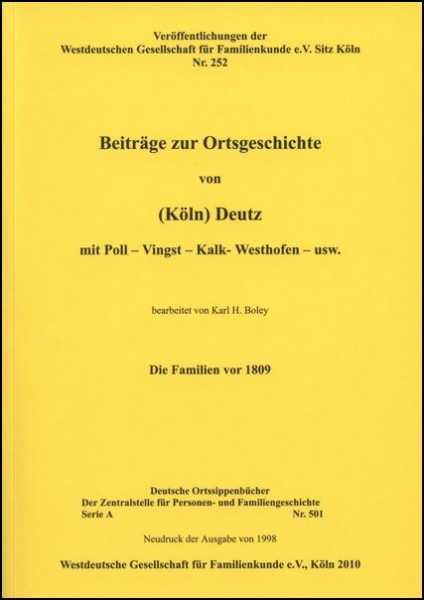 Familienbuch Deutz / Poll (Köln)