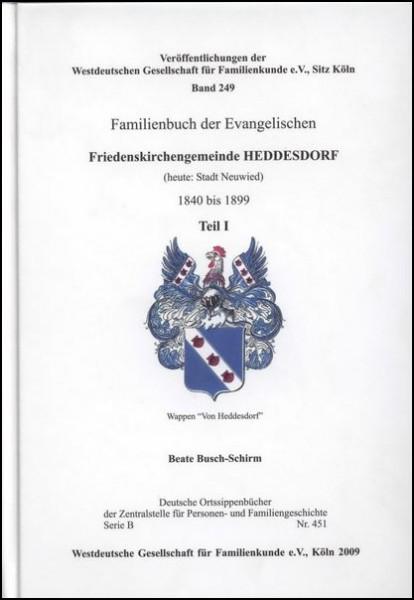 Familienbuch Heddesdorf 1840 - 1899
