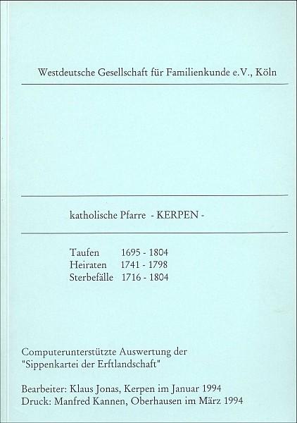 Verkartung Kerpen (kath.), brosch.