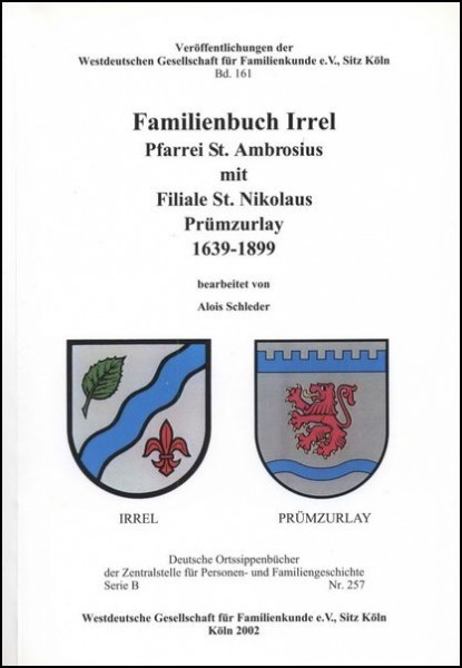 Familienbuch Irrel u. Prümzurlay