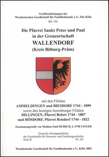 Familienbuch Wallendorf / Ammeldingen / Biesdorf