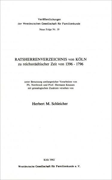 Ratsherrenverzeichnis von Köln