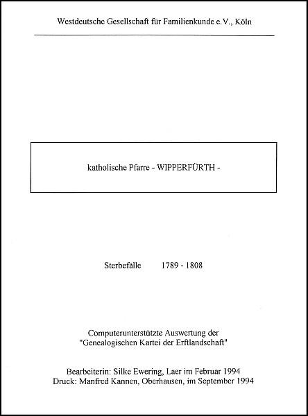 Verkartung Wipperfürth (kath.)