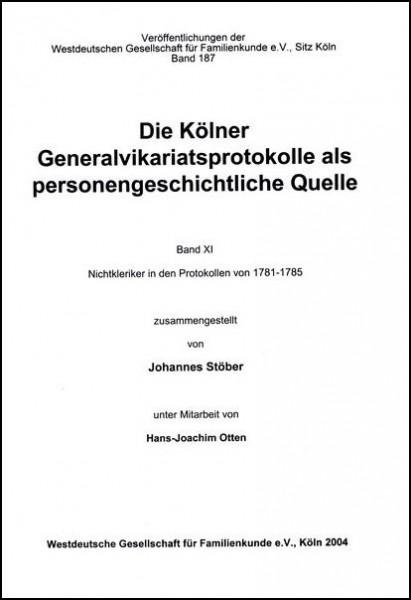 GVP - Bd. 11: 1781 - 1785