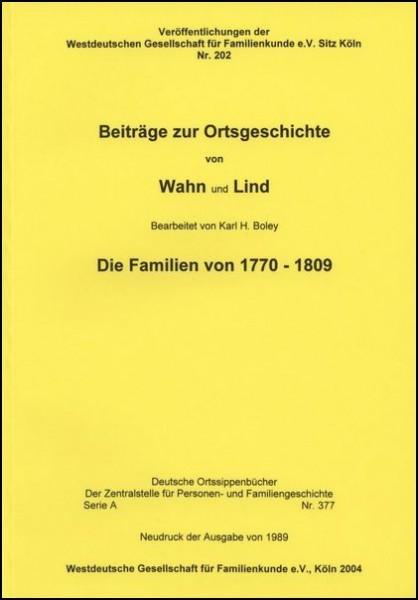 Familienbuch Wahn / Lind