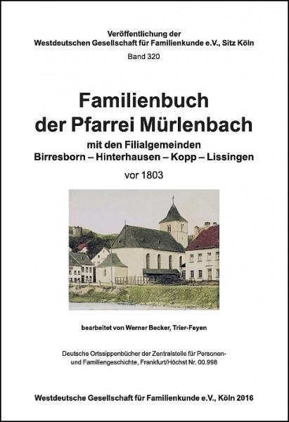 Familienbuch Mürlenbach vor 1803